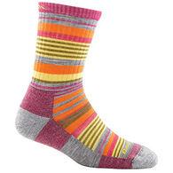 Darn Tough Vermont Girls' Sierra Stripe Jr. Micro Crew Light Cushion Sock