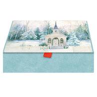 LPG Greetings Church in Winter w/Keepsake Box Christmas Cards