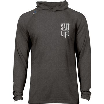 Salt Life Mens Live Salty Marlin Performance Hoodie