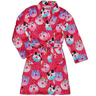 Candy Pink Girls' Animal Donuts Fleece Robe