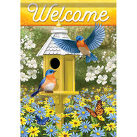 Carson Home Accents Delightful Bluebirds Garden Flag
