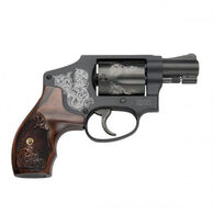 """Smith & Wesson Model 442 Engraved 38 S&W Special +P 1.875"""" 5-Round Revolver"""