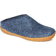 Glerups Unisex Wool Slip On with Rubber Sole Slipper