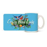 Earth Sun Moon Crazy Bird Lady Mug