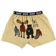 Lazy One Men's Critters Tail End Comical Boxer Short