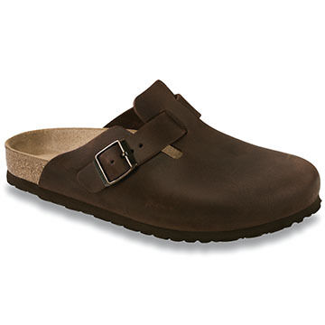 Birkenstock Womens Boston Habana Nubuck Leather Clog