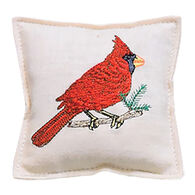 """Paine Products 4"""" x 4"""" Embroidered Cardinal Balsam Pillow"""