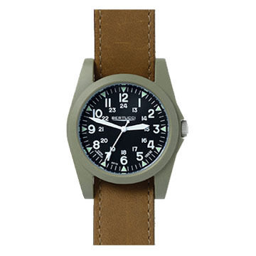 Bertucci A-3P Sportsman Vintage Field Leather Band Watch