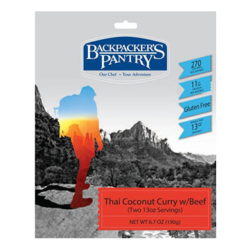 Backpackers Pantry Thai Coconut Curry w/ Beef - 2 Servings