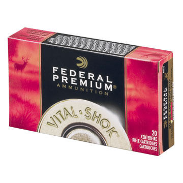 Federal Premium Vital-Shok 30-06 Springfield (7.62x63mm) 165 Grain Sierra GameKing BTSP Rifle Ammo (20)