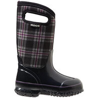 Bogs Girls' Waterproof Classic Winter Plaid Insulated Boot