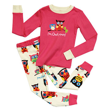 Lazy One Toddler Girls Owl Yours PJ Set