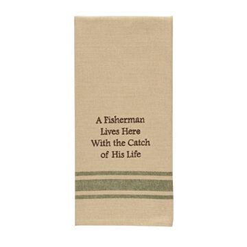 Park Designs A Fisherman Lives Here Sentiment Dish Towel