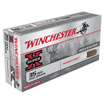 Winchester Super-X 35 Remington 200 Grain Power-Point Rifle Ammo (20)