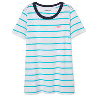 Hatley Little Blue House Women's Nautical Whales Pajama Short-Sleeve T-Shirt