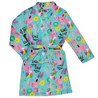 Candy Pink Girls' Beach Fun Fleece Robe