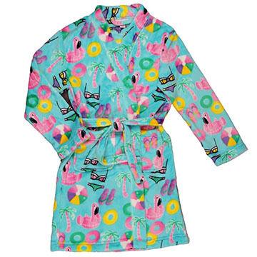 Candy Pink Girls Beach Fun Fleece Robe