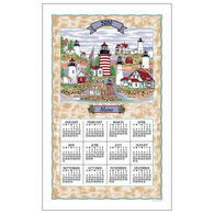 Kay Dee Designs 2020 Maine Lighthouse Collage Calendar Towel