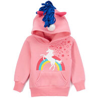 Doodle Pants Toddler Girls' Rainbow Unicorn 3D Sweatshirt