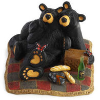 Big Sky Carvers Butterfly Picnic Bear Figurine