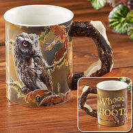 Wild Wings Who Gives a Hoot–Owl Sculpted Coffee Mug