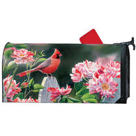 MailWraps Cardinal And Roses Magnetic Mailbox Cover