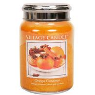 Village Candle Large Glass Jar Candle - Orange Cinnamon