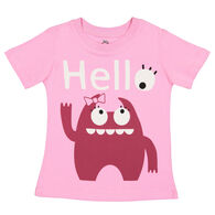 Doodle Pants Toddler Girls' Pink Monster Short-Sleeve T-Shirt