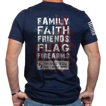 Nine Line Apparel Mens 5 Things Short-Sleeve T-Shirt