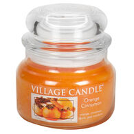 Village Candle Small Glass Jar Candle - Orange Cinnamon