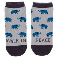 Karma Women's Walk In Peace Elephant Ankle Sock