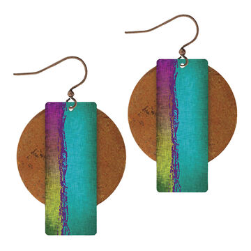 Illustrated Lights Womens DC Designs Circle/Rectangle Earring