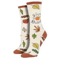 Socksmith Design Women's Give Thanks Crew Sock