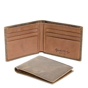Osgoode Marley Mens RFID Mini Thinfold Distressed Leather Wallet