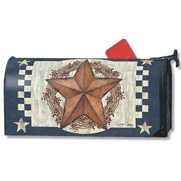 MailWraps Blue Barn Star Mailbox Cover