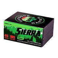 Sierra Bullets Outdoor Master 45 Auto 185 Grain JHP Handgun Ammo (20)