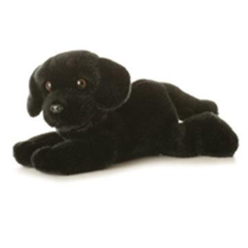 "Aurora Cole Black Labrador 12"" Plush Stuffed Animal"