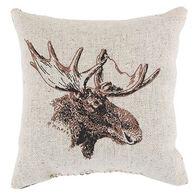 """Maine Balsam Fir 4"""" x 4"""" Small Moose Pillow"""