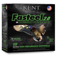 "Kent Fasteel 2.0 Precision Plated Steel Waterfowl 20 GA 3"" 7/8 oz. #4 Shotshell Ammo (25)"