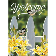 Carson Home Accents Flagtrends Chickadee Garden Gate Garden Flag