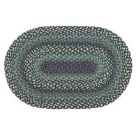 Capitol Earth Oval Blueberries & Cream Braided Rug