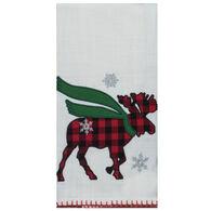Kay Dee Designs Camp Christmas Moose Embroidered Tea Towel