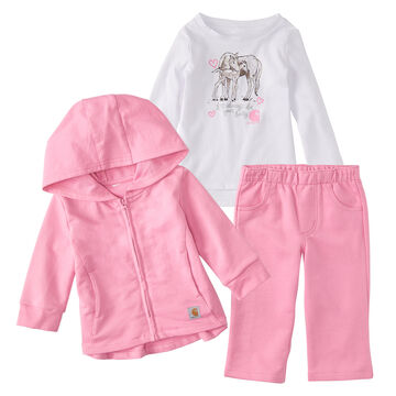 Carhartt Infant/Toddler Girls Jacket Gift Set