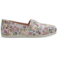 TOMS Girls' Youth Print Canvas Classic Shoe