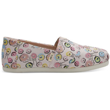 TOMS Girls Youth Print Canvas Classic Shoe