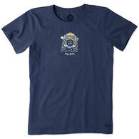Life is Good Women's Rocket Dog Gone SUV Vintage Crusher Short-Sleeve T-Shirt