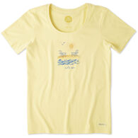 Life is Good Women's Let's Sea Crusher Scoop Short-Sleeve T-Shirt