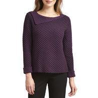 Habitat Women's Drape Collar Pullover Cotton Sweater