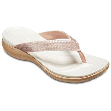 Crocs Womens Capri V Sequin Flip Flop Sandal
