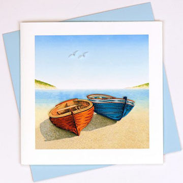 Quilling Card Boats Everyday Card